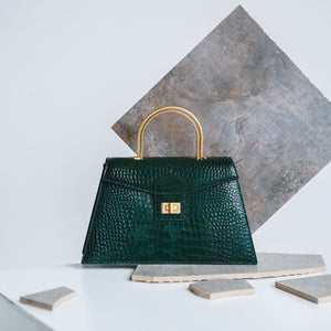 Dark Green Croc Large Le Book (Pre-order)