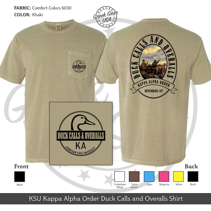 KSU Kappa Alpha Order Duck Calls and Overalls Fall 2018