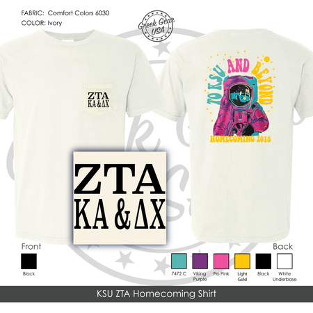 KSU ZTA Homecoming Shirt Fall 2018