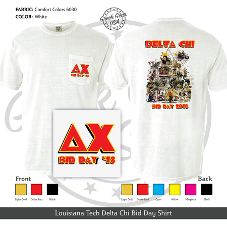 Louisiana Tech Delta Chi Bid Day Shirt