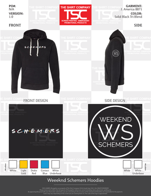 Weekend schemers friends hoodies
