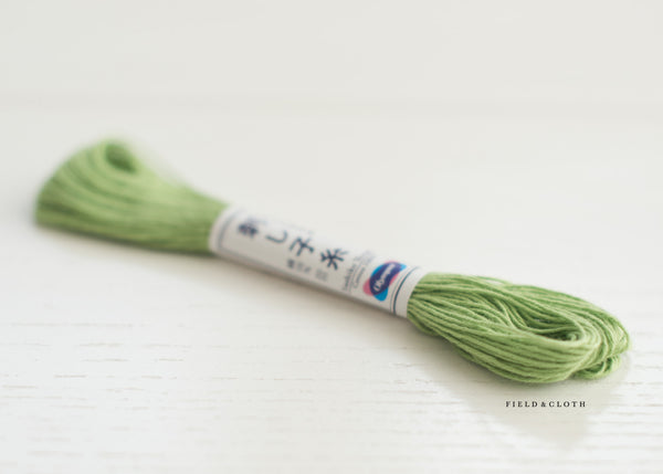 Sashiko Thread - Apple Green 06