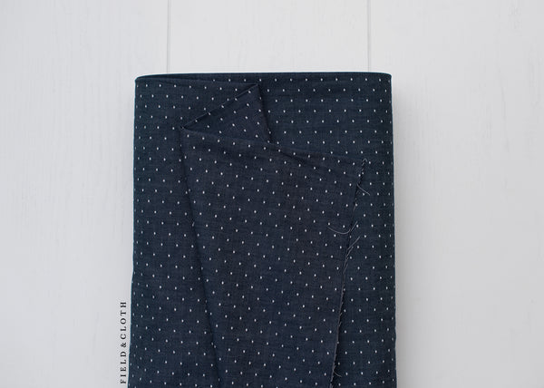 Chambray Union - Dots in Indigo