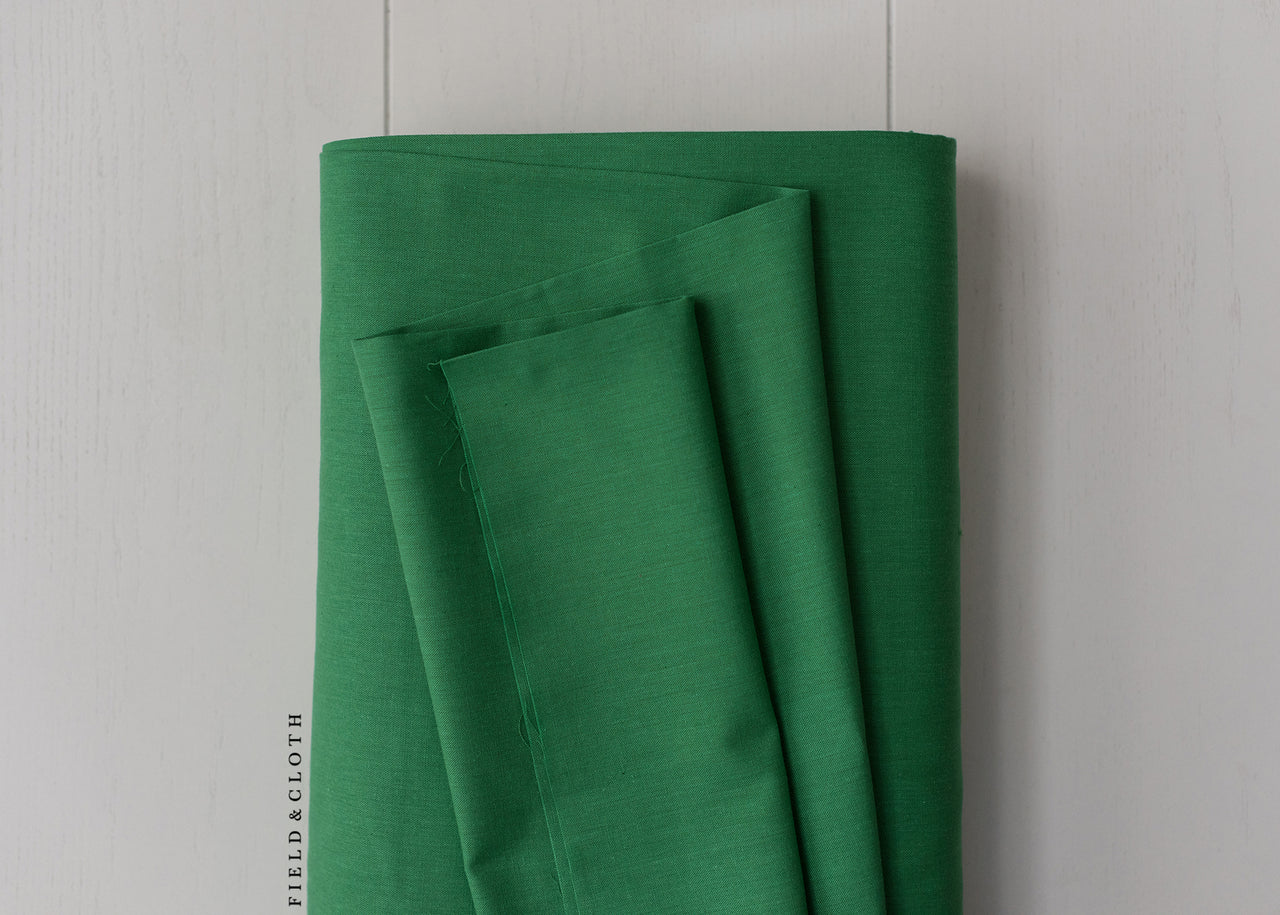 Cirrus Solid - Organic Cotton in Shamrock