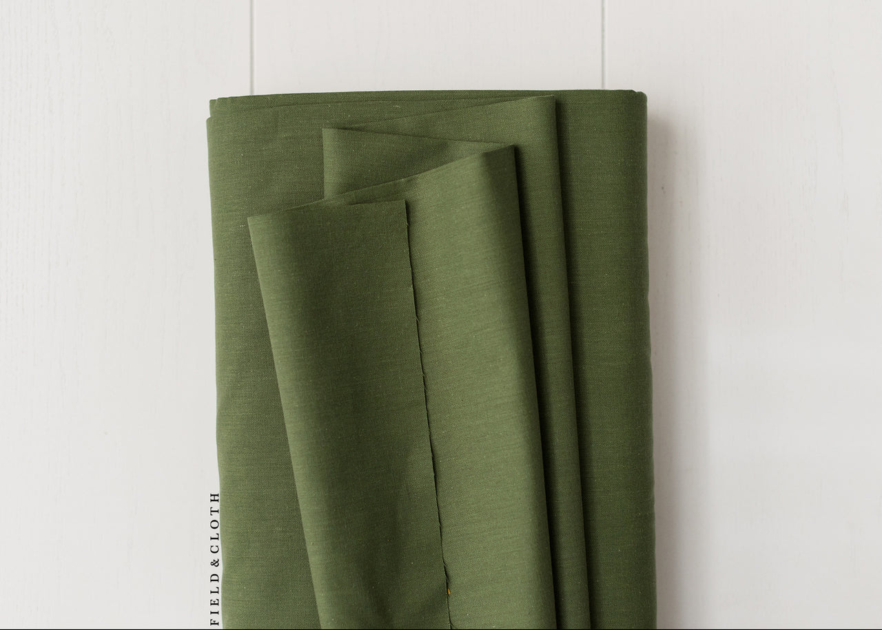 Cirrus Solid - Organic Cotton in Olive