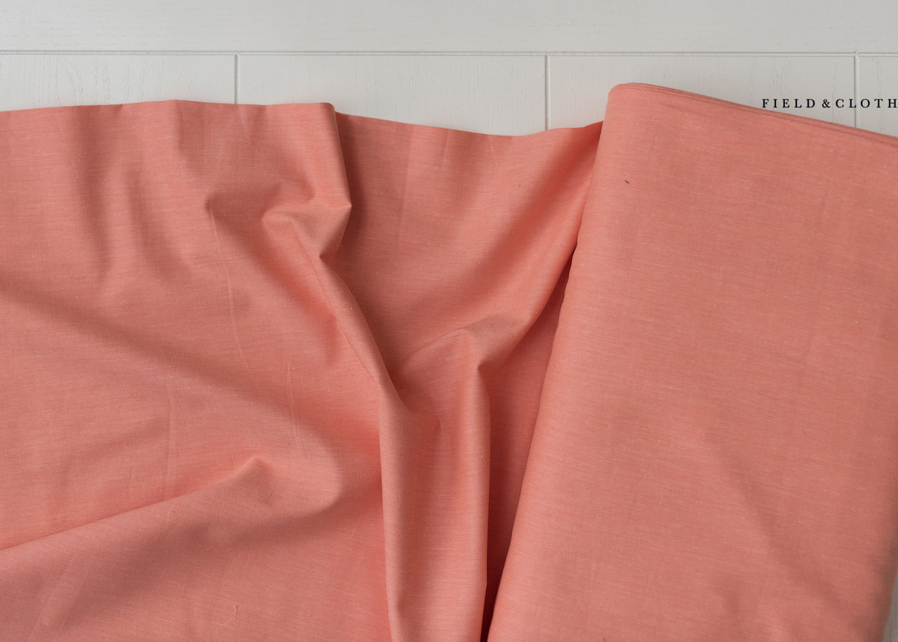 Cirrus Solid - Organic Cotton in Coral