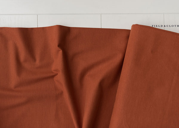 Cirrus Solid - Organic Cotton in Cinnamon
