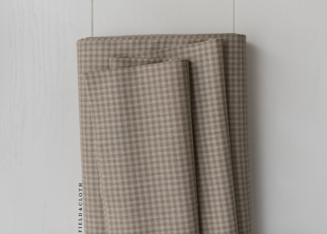 Cirrus Plaids - Checks Please - Organic Cotton in Brown