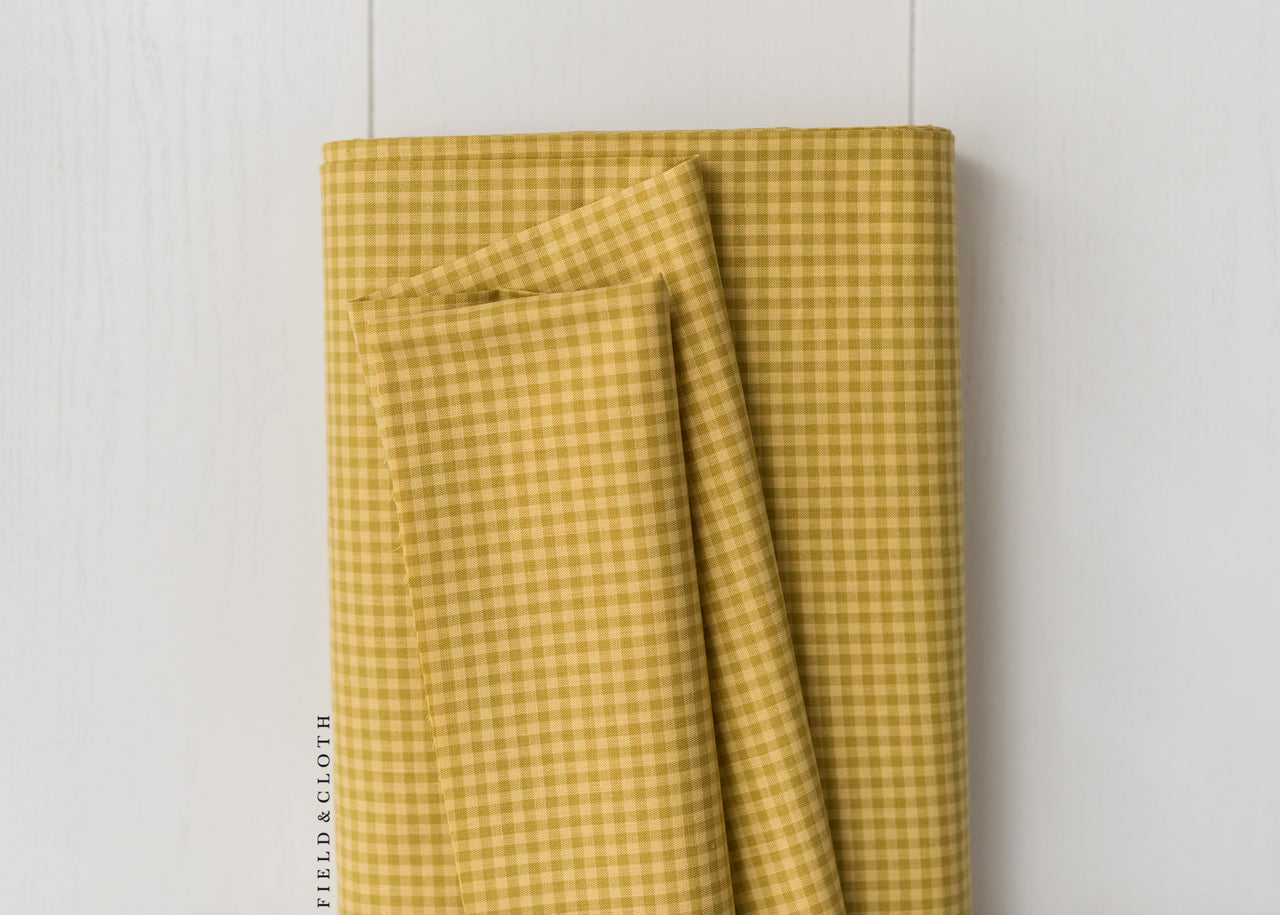 Cirrus Plaids - Checks Please - Organic Cotton in Yellow