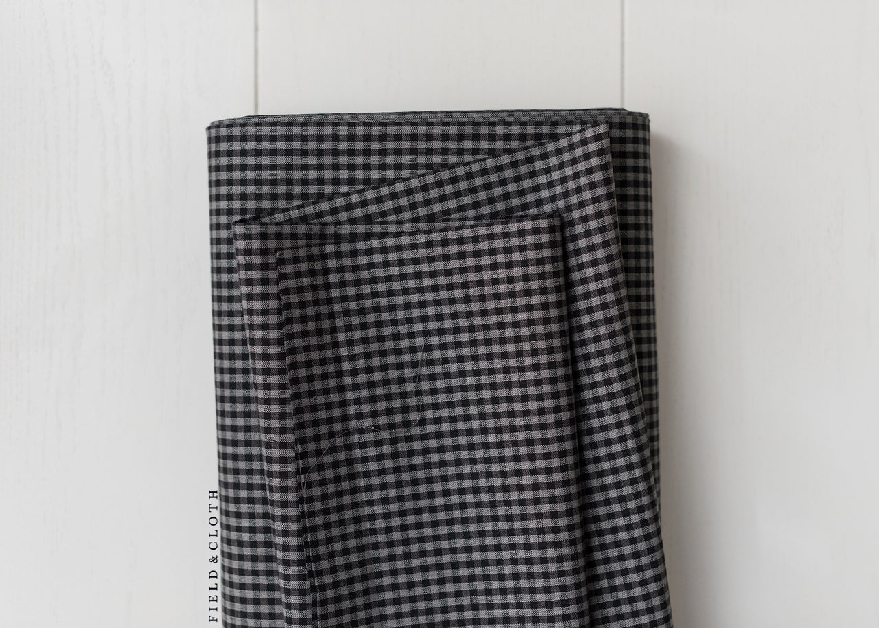 Cirrus Plaids - Checks Please - Organic Cotton in Black
