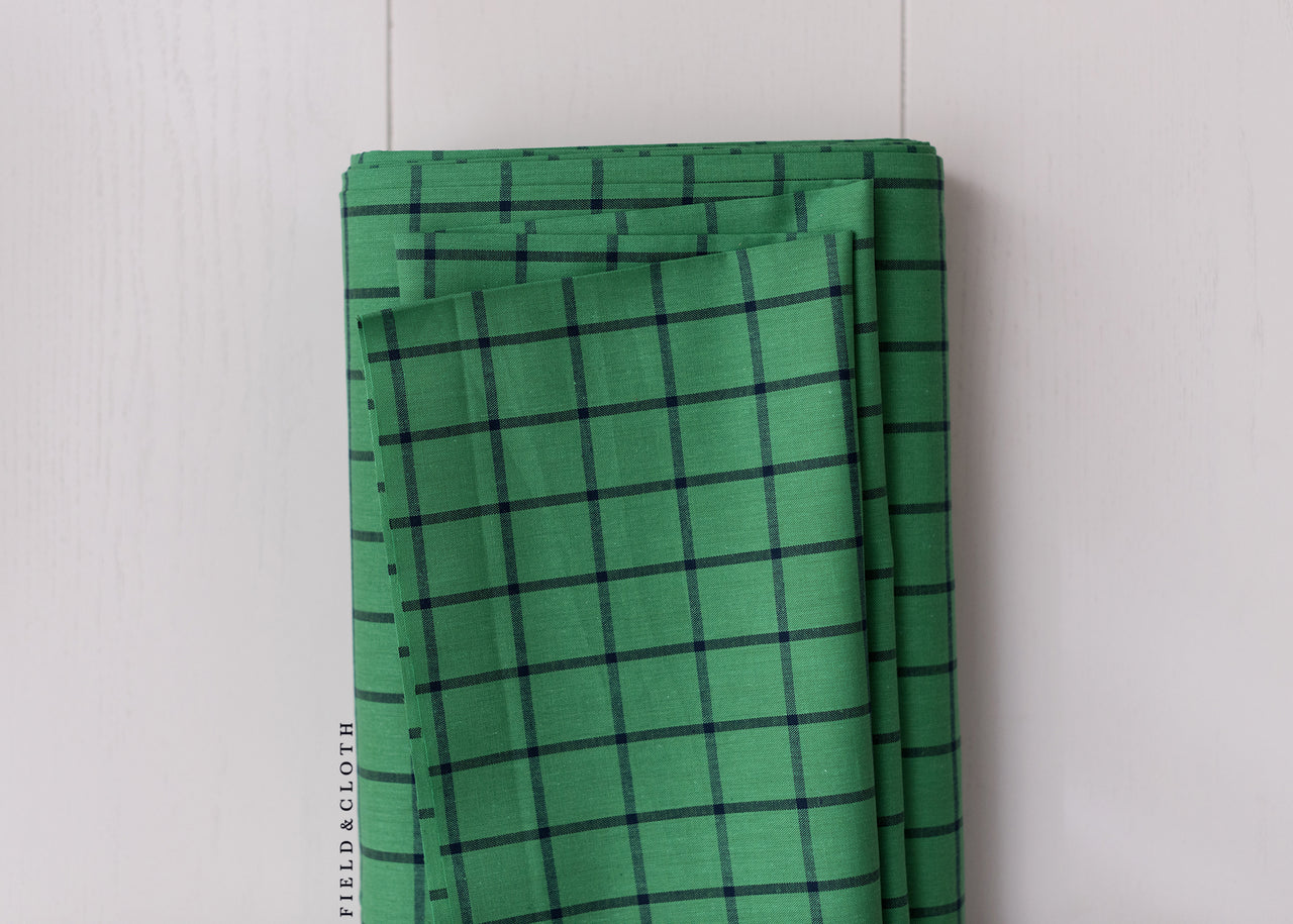 Cirrus Plaids - Window Dressing in Green