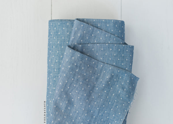 Kokochi - Double Gauze Dots in Cobalt Blue