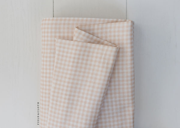 Sevenberry - Baby Basics - Double Gauze Checks in Tan