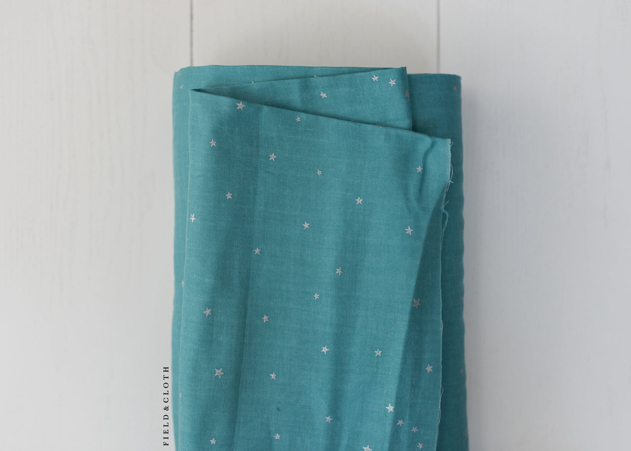 Double Gauze - Starry in Turquoise