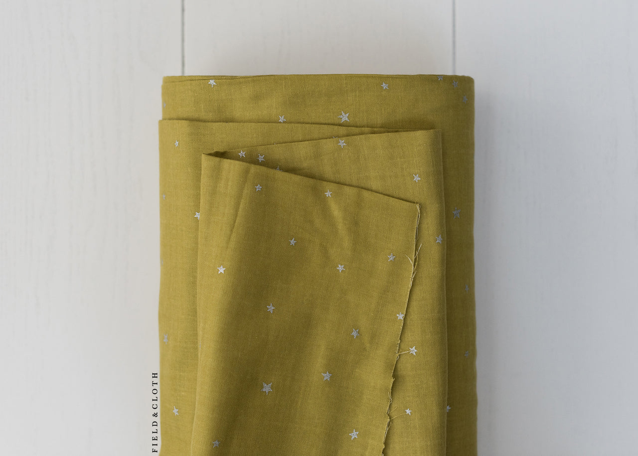 Double Gauze - Starry in Chartreuse