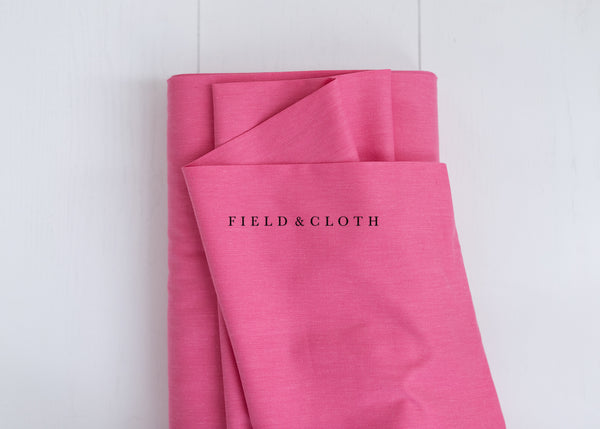 Cirrus Solid - Organic Cotton in Bubblegum