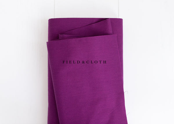 Cirrus Solid - Organic Cotton in Iris