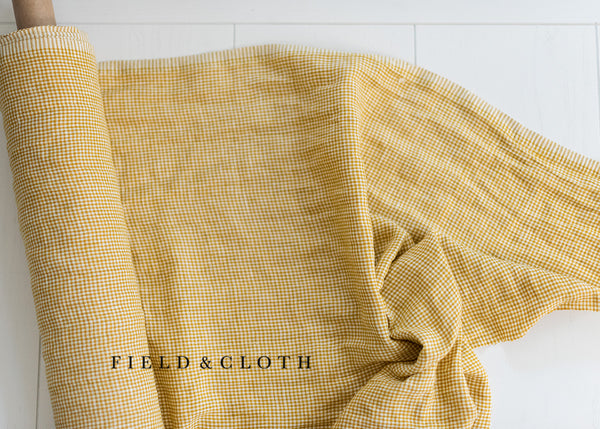 Merchant & Mills Dress Weight Linen - Royal Mustard