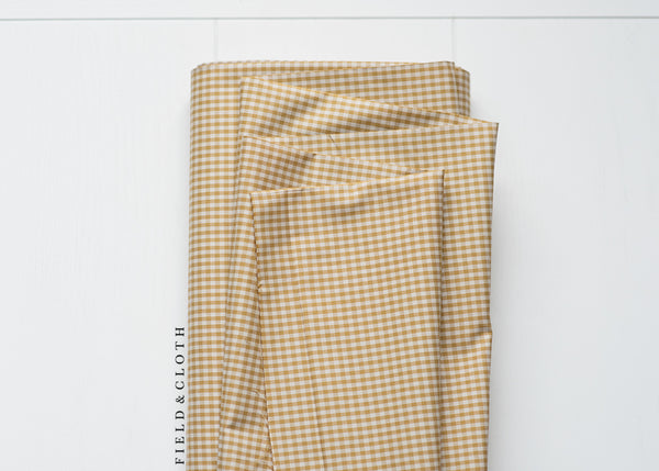 Gingham - Small in Mustard