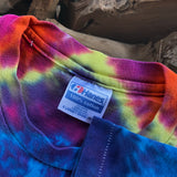 Original Late 80s/ Early 90s Vintage Tie Dye T-Shirt/ Size Large