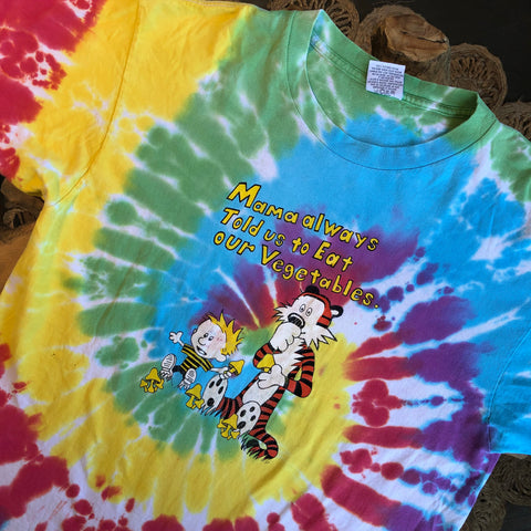 Original Late 90s Vintage Calvin & Hobbs T-Shirt/ Size Large