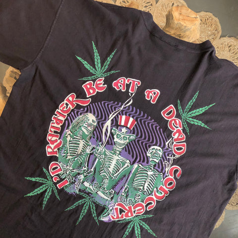 Original 1990s Vintage Grateful Dead T-Shirt/ Size Large