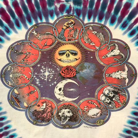 Original Late 1980s Vintage Grateful Dead T-Shirt/ Size XL