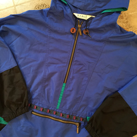 Original 1990s LL Bean Pull over Half Zip/ Size Large