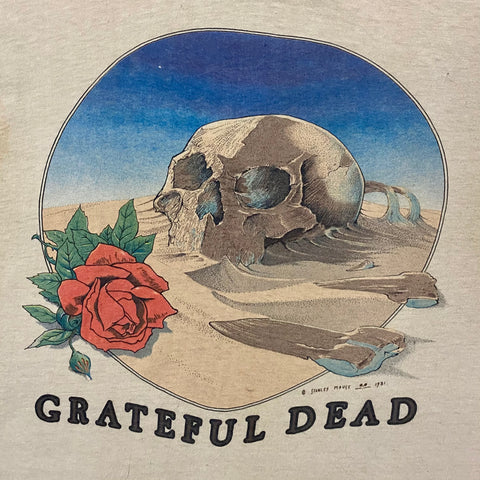 Original 1980s Vintage Grateful Dead T-Shirt/ Size Medium
