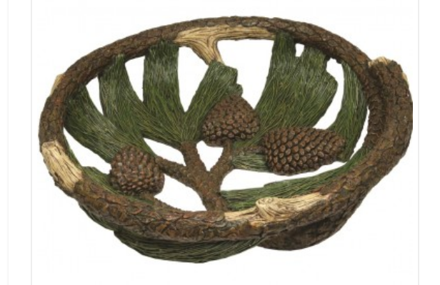 Rivers Edge Pine Cone Fruit Bowl 12in DiameterZoom Rivers Edge Pine Cone Fruit Bowl 12in Diameter