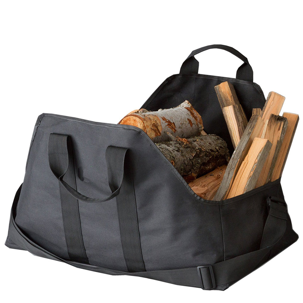 Dropshipping Firewood Log Carrier and Holder Super Durable Canvas Heavyduty Logging Tote Storage Fire Wood Logs Bags black blue