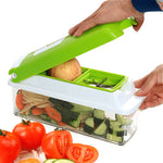 12pcs/Set ABS Plastic Vegetable Slicer  Vegetable Grater Gadget Friut Cutter Portable Stainless Steel BladesMultifunctional Tool