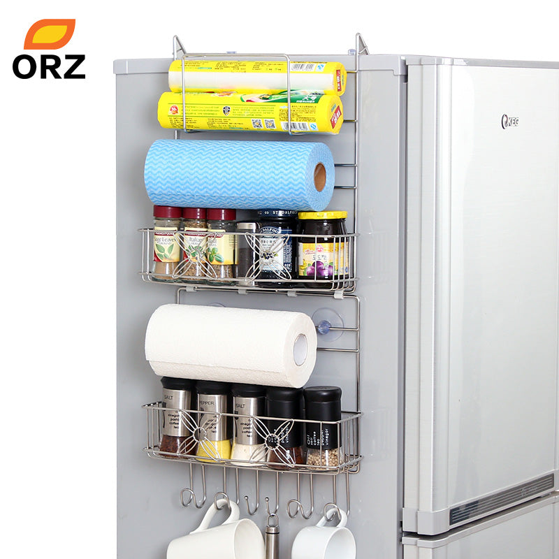 Refrigerator Rack Side Shelf Sidewall Holder Multipurpose Spice Space Crack Storage Estante Fridge Kitchen Organizer Holder