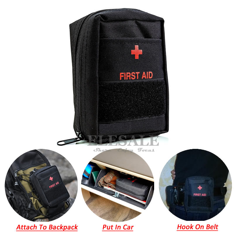 Portable Military First Aid Kit Empty Bag Bug Out Bag Water Resistant For Hiking Travel Home Car Emergency Treatment IFAK