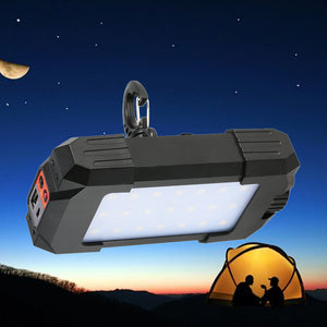 500LM Portable Lantern Lamp Flashlight Light with USB For Outdoor Emergency Hiking Camping Travel Mobile Power Bank with Compass