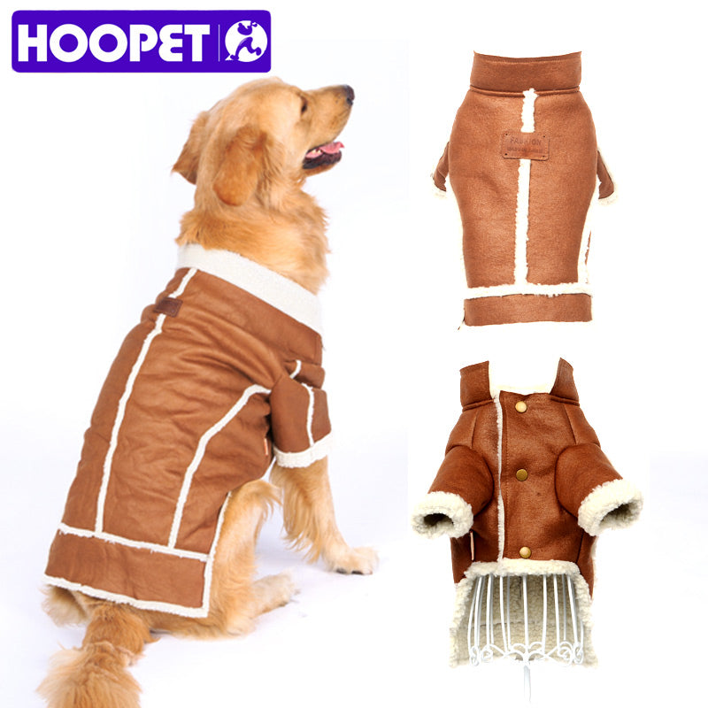 HOOPET Big Dog Clothes  Lamb Coat  Thick Winter Warm Brown Two Feet Pet  Wholesale/Retail