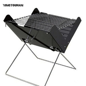 YINGTOUMAN  Portable Folding BBQ Grill Outdoor Charcoal Stove for Camping Picnic Hiking 30*26.5*30cm