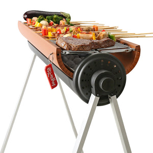 Outdoor Portable Barbecue Rack, BBQ Tools For More than 5 People, Charcoal Barbecue Set