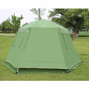 Automatic Opening 6-8 Person Double Layer Big Space Family Party Tents Camping Tent Travel Tent With Snow Skirt