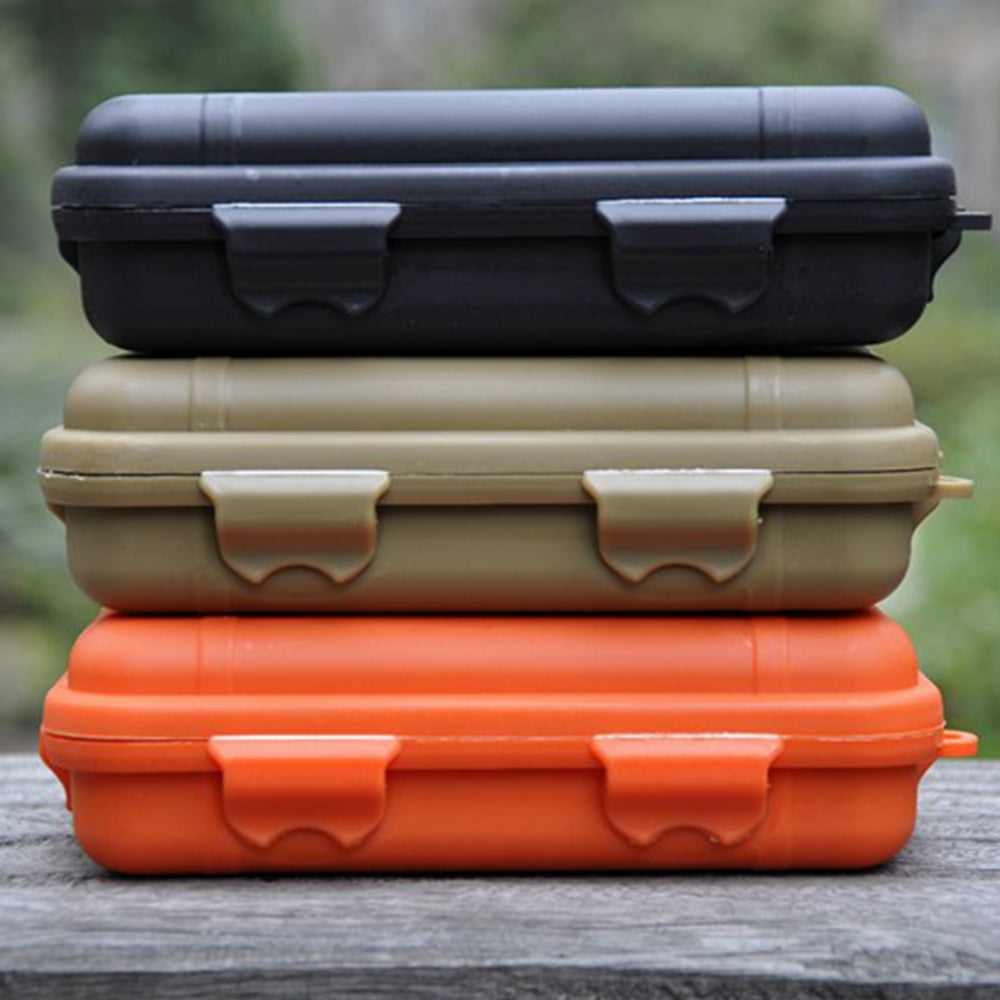 Outdoor Camping survival Waterproof and shockproof box sealed box EDC field survival tool storage box (small)