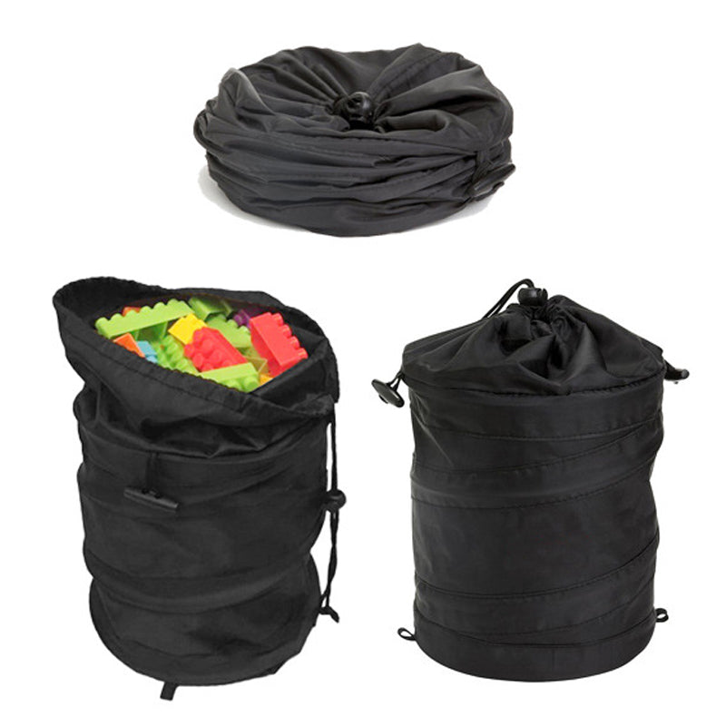 Portable Storage Bag Black Barrel Toy Organizer Bag Travel Ice Bag Organizador Storage Basket Boxes QB885041