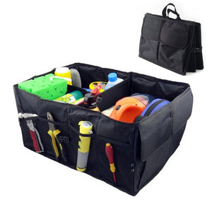 Durable Oxford Fabric Folding Car Organizer Case Trunk Organizer Cargo Storage Container Bag for Travelling Camping Hoga