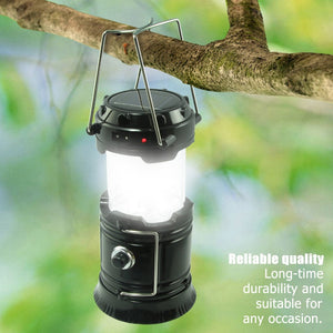 Flexible Solar Power Portable Camping Lantern, AC Recharge Tent Lantern, Waterproof Emergency Flashlight Work as Power Bank
