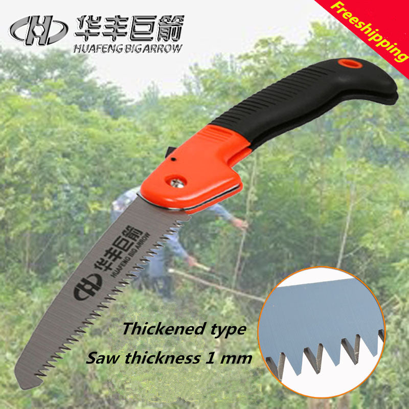 Freeshipping 1PCS 2017 New A fruit garden saw thickened folding saw saw branch hand saw camping woodworking saw