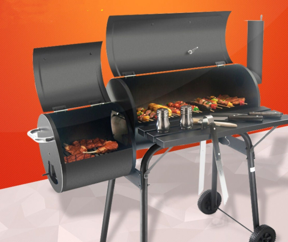 Big and small BBQ grill,Outdoor charcoal BBQ grill,BBQ grill, meat grill
