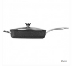 THE ROCK by Starfrit 060744-002-0000 THE ROCK(TM) by Starfrit 5.8-Quart Deep Fry Pan with Lid