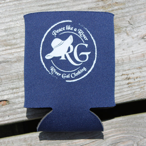 Dark Blue Can Koozie