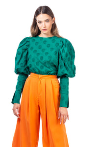 Dot blouse - green