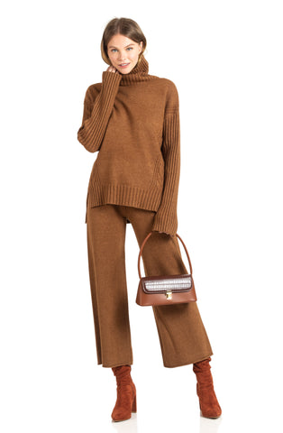 Brown knit set