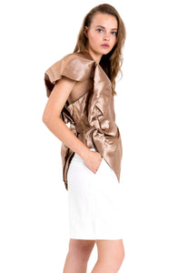 Bow Blouse - Bronze